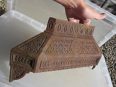 Victorian Cast Iron Fire Hood Canopy Cowl Antique Fireplace Vintage Old 1895