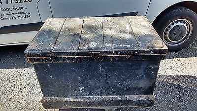 Large Antique Carpenter's Tool Chest, Marquetry Inlay, Box