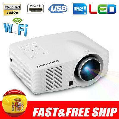 3D Mini LED Proyector 1500 Lúmenes WIFI Android Projector HD1080P USB/SD/AV/HDMI