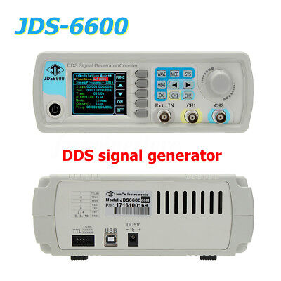 8-60MHZ JDS-6600 Dual-channel DDS Function Signal Generator Frequency Counter