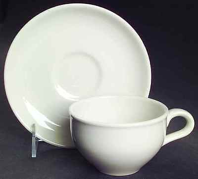 Iroquois Russel Wright CASUAL WHITE Cup & Saucer 6302306
