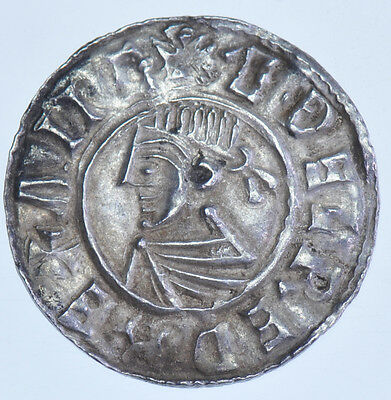 Aethelred Ii Penny Sunegod On Lincoln, (978-1016) British Silver Hammered Coin