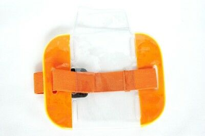 SIA SECURITY ID ARMBAND BADGE HOLDER DOORMAN BOUNCER Hi VIS ORANGE - MARKS
