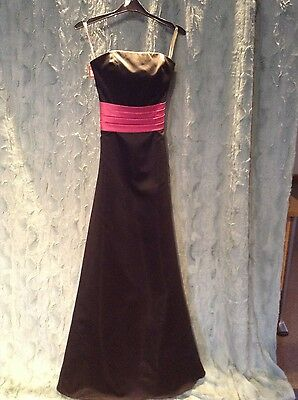 Black and Cerise Ball Gown / Prom / Evening / Bridesmaid Dress  Size 8  New