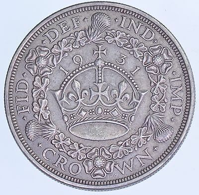 Rare 1931 Wreath Crown, British Silver Coin From George V [Only 4056 Struck]