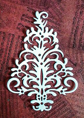 Decorative Christmas Tree Die Cuts (white) 8 Pieces Included