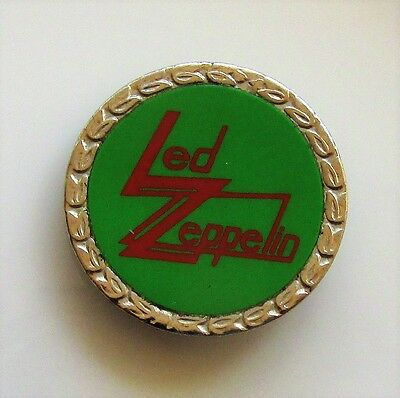 LED ZEPPELIN VINTAGE METAL PIN BADGE FROM THE 1970's PAGE PLANT JONES BONHAM
