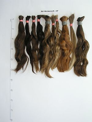 "Natural european human haircut blonde brown 10 braids ponytail 9""-10"" 250 gr"