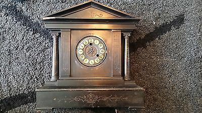 Antique bracket clock h a c made in Germany restoration project mantle
