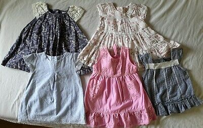 Bundle of used baby girl dresses, size 12-18 months