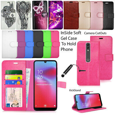 For Vodafone Smart N8 Leather Stand Wallet Case Cover With Free Stylsh Pen Cell Phone Accessories Cell Phones & Accessories
