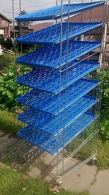 Commercial Bakery Bread  Metal Rack 7  blue trays, storage, industral