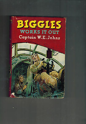 CAPTAIN W. E. JOHNS Biggles Works it Out - 1st ed 1951 in dustwrapper