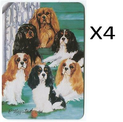 4X VINTAGE DOG MAYSTEAD PLAYING CARDS Cavalier King Charles Spaniel