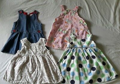 Bundle of used baby girl dresses, size 18-24 months