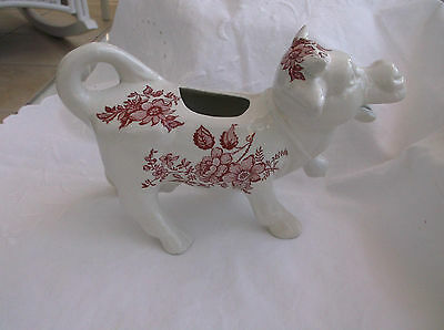 Pink & White Cow Creamer Milk Cream Jug Made In England