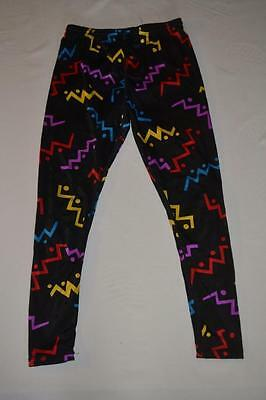 vintage  80s  1980s  SPANDEX scribble abstract  PANTS    M  Rare USA