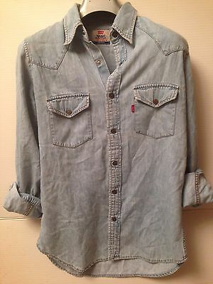 camicia manica lunga jeans levi's levi strauss donna tg m harley