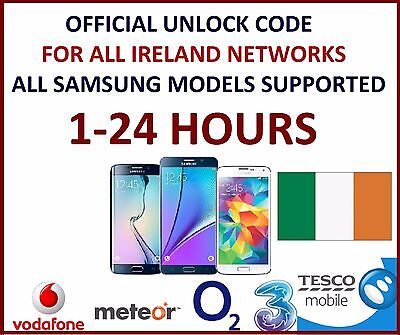 UNLOCK CODE For SAMSUNG GALAXY S8 PLUS S6 EDGE IRELAND O2 VODAFONE THREE