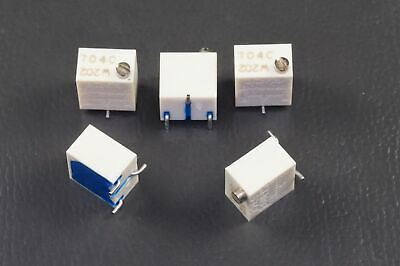 """Lot of 3 3269W-1-202 Bourns 1/4"""" Trimpot Trimming Potentiometer 2k Ohm 10% NOS"""