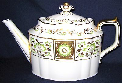 Royal Crown Derby -  Green Derby Panel - Large Teapot