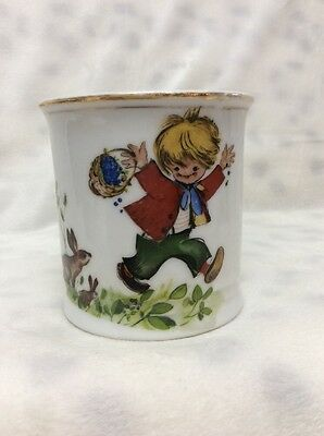 Vintage MGK Childs Ceramic Nursery Rhyme  LITTLE BOY Mug Cup