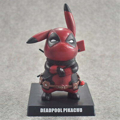 Pokemon Pikachu Cosplay Deadpool PVC Figure statue Anime toy Gift Hero 14cm New