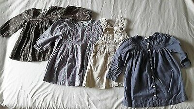 Bundle of used baby girl dresses, size 9-12 months