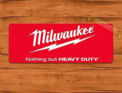 "TIN-UPS TIN SIGN ""Milwaukee Red"" Tools Garage Advertisement Wall Decor"