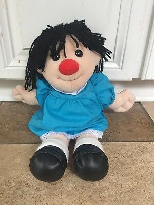 """BIG COMFY COUCH Molly Plush Doll VTG 1995 17 - 18"""" Blue Dress Commonwealth Toys"""