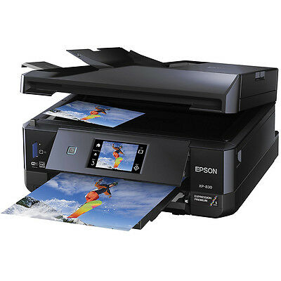 Epson Expression XP-830 Wireless Small-In-One Color Printer w/ Scanner, Copier &