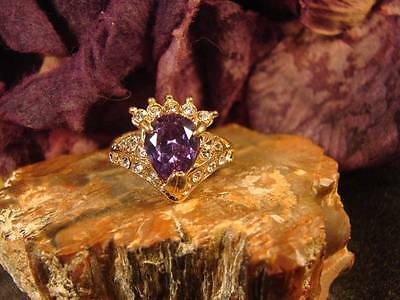~Beautiful Witch's Amethyst Psychic Dream Ring & Spell Scroll~Pagan Vessel~