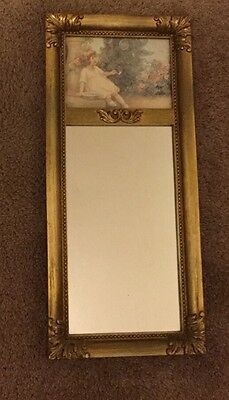 Decrative Mirror Picture Little Girl In Garden.  Home Interiors And Gifts .