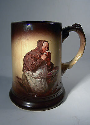 J. & E. Mayer Antique Beer Stein Mug 1880s Beer Drinking Monk