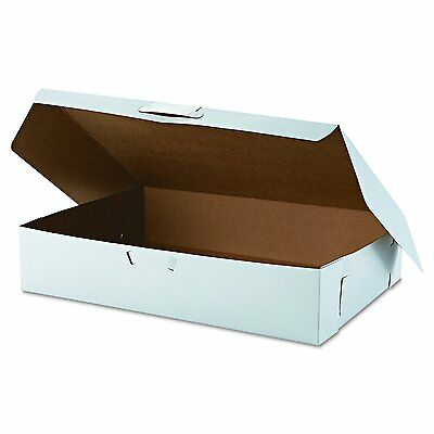 SCT 1029 Tuck-Top Bakery Boxes, 19w x 14d x 4h, White (Case of 50) Free Shipping