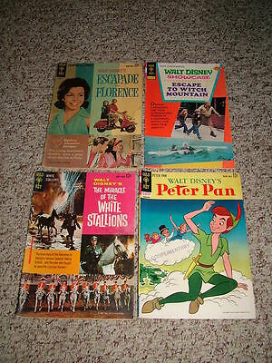 Lot of 4 Gold Key Silver Age Walt Disney Movie Comics