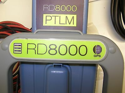 Radiodetection RD8000 PTLM T10 GPS, EMS ILOC  Cable Pipe Locator NEVER AS IS!