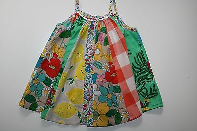 Next- Vintage- Floral Soft Cotton Sleeveless Tunic Dress- Baby Girl 12-18 Months