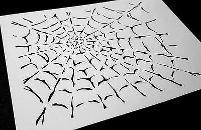 SPIDER COBWEB Airbrushing Stencil Background Halloween Body Cars Painting Web