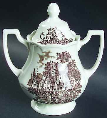J & G Meakin STRATFORD STAGE BROWN Sugar Bowl 351617