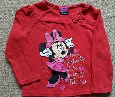 Minnie mouse top age 1.5 - 2 years red top