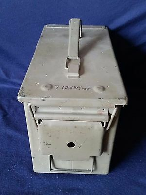 Metal Ammo Can with Latched Lever Lid and Folding Handle Plus Accessories