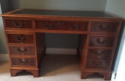 Retro Vintage Twin Pedestal Office Desk