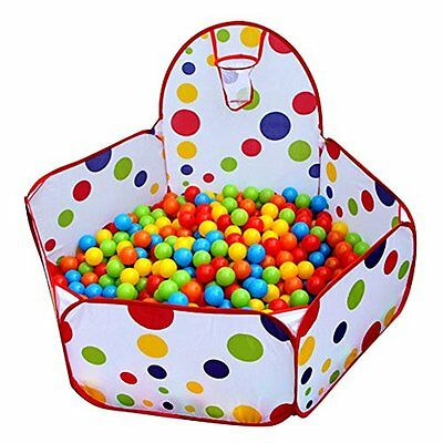 Pit Ball Play Tent Baby Toddler Indoor Outdoor Pool Foldable Portable With Hoop