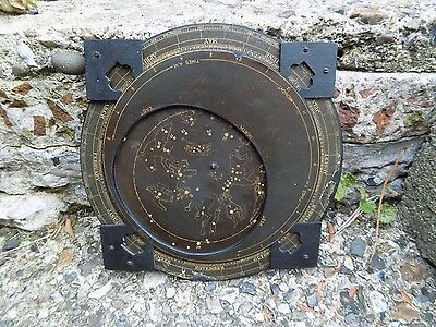 A Old 19thC Antique Vintage Planisphere Celestial Astrology Astronomy Star Map