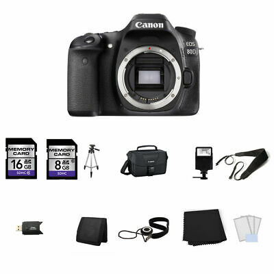 Canon EOS 80D DSLR Camera (Body Only) 24GB Full Kit