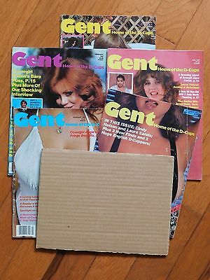 Lot of 5 Issues of GENT Magazine for Men from 1981 & 1983