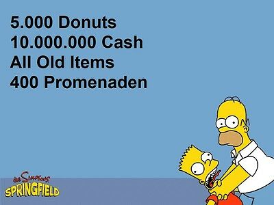 Die Simpsons:Springfield Tapped Out Spiele App - 5.000 Donuts