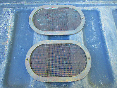 "Vintage Cowl, Porthole ? Oval Brass Screens 5"" X 8"""