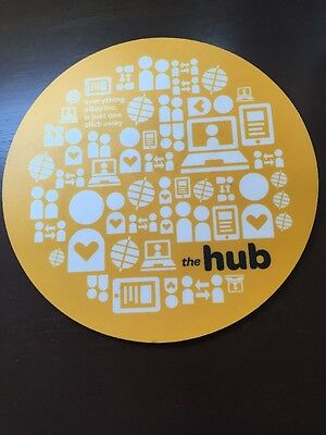 eBay Inc The Hub yellow round internal employee mouse pad 100% for charity